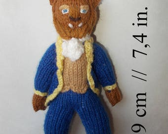 The Beast knitted doll