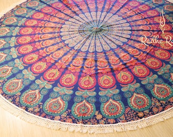 Mandala Round Cotton Sheet