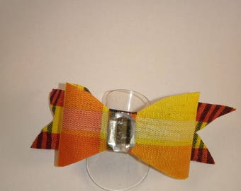 Yellow madras bow tie ring