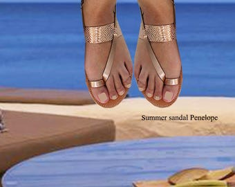Sandals Womens,Womens Sandals,Handmade Sandals, Leather Sandals, Rose Gold Sandals,Greek Sandals, Ladies Sandals,toe Ring  Sandals,ATHENA