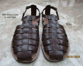 GLADIATOR Mens Sandals,Greek Sandals, Closed toe Sandals, Handmade Sandals, Leather Sandals,Men's Leather Sandals,Greek Sandals,