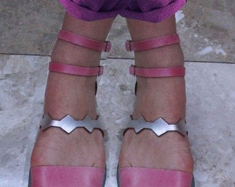 Sandals Women's,Women's Sandals,Handmade Sandals,Pink and Silver Sandals,Ladies Sandals, Leather Sandals, Silver Sandals, SANTORINI SUNLIGHT