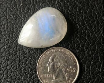30.75 x 20.10 MM, pear Shape Rainbow Moonstone/wire wrap stone/moonstone Cabochon/,silver jewelry/ Pear moonstone cabochon/AAA  Moonstone