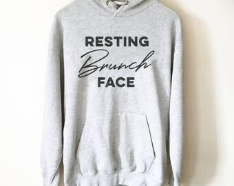Resting Brunch Face Hoodie - Brunch shirt   Sunday brunch shirt   Brunch and bubbly   Funny brunch shirt   Breakfast shirt