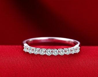 14k 18k White Gold Diamond Eternity Ring Wedding Band delicate Diamond Ring Stacking ring engagement ring 0.3ct