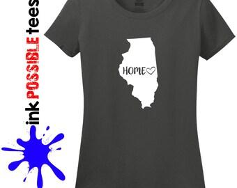 Illinois Home Shirt Illinois Gift T-Shirt Roots Native