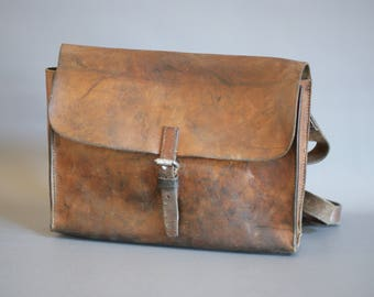 Swiss Army Bag 1950s, Vintage Swiss Army Bag, Swiss Army Leather Bag, Swiss Army Laptop Bag, Swiss Army Messenger Bag, Swiss Military Bag