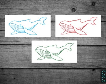 Whale decal, whale sticker, blue whale decal, blue whale sticker