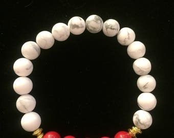 cherry red howlite