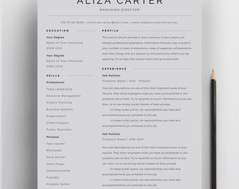 Creative Resume Template, Minimalist Resume, Resume Design, Modern Resume,  CV Template,  Clean Resume Design