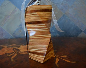 Plywood Vase with Cherry Layers