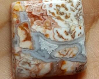 Rositta Jasper natural plain square shape cabochon - 21.5mm x 21mm x 6mm