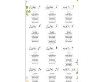 Roll-up table plan