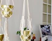 Hanging macrame plant han...