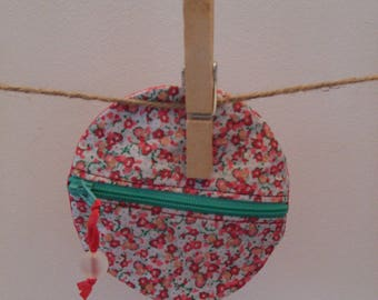 Mini zippered pouch flowers