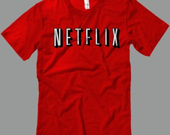 Netflix T Shirt -Halloween costume -T Shirts- Long Sleeves-Tanks-Sweatshirts-Hoodies-Youth-Womens-Mens-up to 5XL