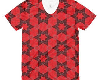 Red Square Sublimation women's crew neck t-shirt