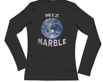 Miz Marble Super Heroine Spartees Ladies' Long Sleeve T-Shirt