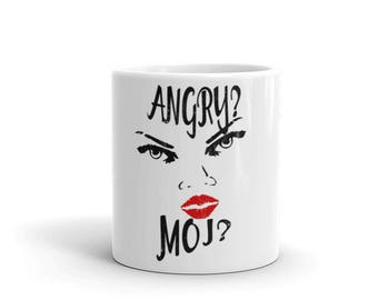 Angry?  Moi?  Spartees distressed white Mug