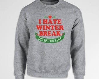 Teacher Christmas Gifts Holiday Sweater Winter Sweatshirt Xmas Present Holiday Outfit Christmas Pullover Xmas Hoodie Holiday Jumper TEP-583