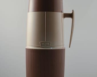 Large Brown Tan Thermos