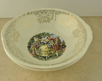 Colonial Ceramic Serving Bowls - Set of Two