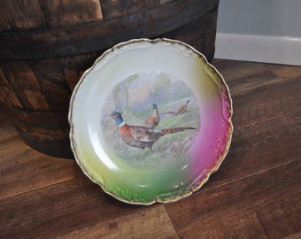 Vintage Pheasant Charger Plate - Made in Germany