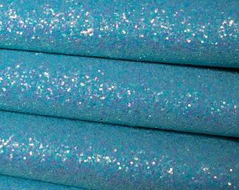 Arctic Blast Premium Quality Chunky Glitter Fabric Sheet