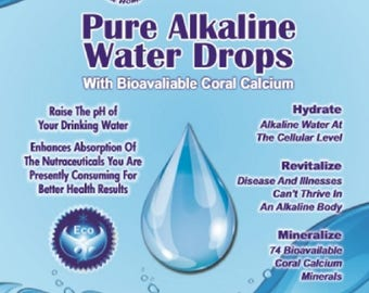 Pure Alkaline Water Drops With Australian Coral Calcium