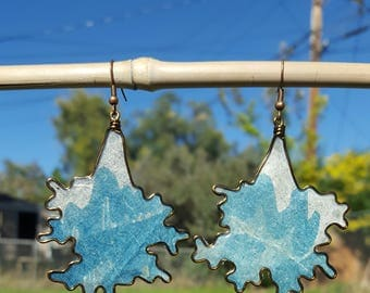 Watercolor Puddle Earrings