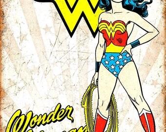 Set of 2 fridge magnets 7.5 cm x 4.5 cm  Wonder Woman Retro