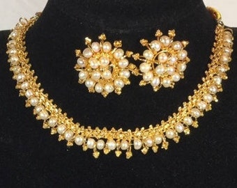 Rumtix 806 (Gold plated Silver Jewelry with Cultured Pearl)