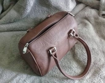 Do not miss bag dark brown leather handbag.