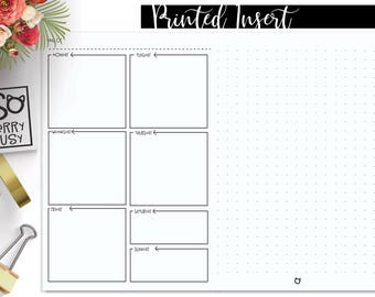 Cahier Week on One Page with Dot Grid