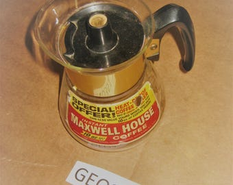 Advertising Maxwell House Coffee glass coffee pot   [geo3517bs]