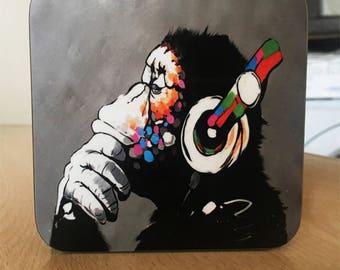 Banksy Coaster #7 - Banksy Gift - Banksy Coaster - Custom Coaster -Gift for Her - Gift For Him - Fridge Magnets - Banksy Magnet - Souvenir