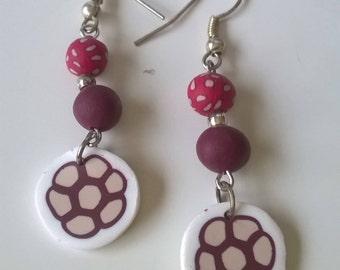Flowers - polymer clay earrings