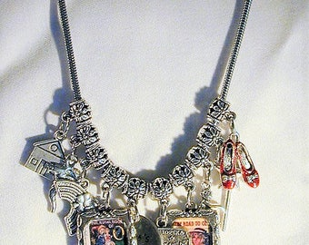 Wizard of Oz Inspired Charm Necklace Handmade OOAK