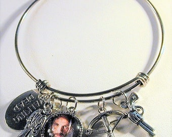The Walking Dead Inspired Bangle Charm Bracelet