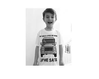 My Uncle Loves Me More T Shirt, Land Rover, Defender, Truck, T-Shirt, Cars, Novelty Gift, Defender T-Shirt, Land Rover T-Shirt Adults