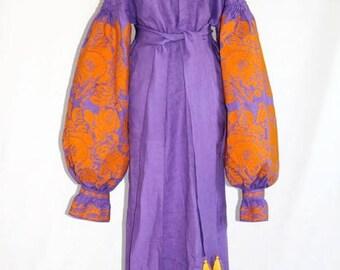 Backless Dress Kaftan Abaya Dresses Ukrainian Embroidery Boho Clothes Vyshyvanka Vishivanka Maxi Embroidered Dress Ethnic Ukrainian Bohochic