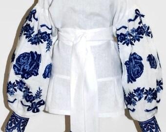 Backless Embroidered Blouse Vyshyvanka Bohemian Clothing Vishivanka Boho Clothes Custom Embroidery Ukrainian Tunic Ethnic Ukraine Shirt
