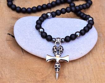 skull necklace men skull jewelry for men gothic necklace skull pendant biker necklace cross necklace cross jewelry for men cool necklace
