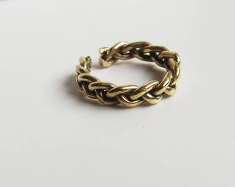 Minimalist rings, braided ring, bathed in gold and sterling silver. Minimalist jewelry, simple and elegant. Different measures