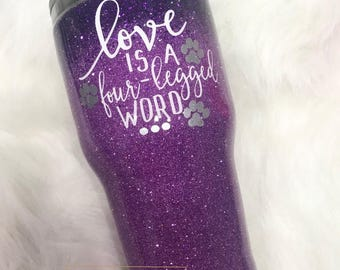Ombre Glitter Dipped Stainless Steel Tumbler Cup