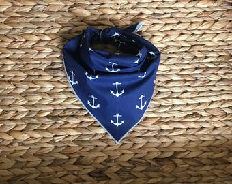 Tie On Dog Bandana with Anchors