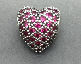 Thomas Sabo Sterling Silver Red Heart Charm/Bead