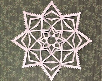 Handmade Paper Snowflakes (5-pack, large)