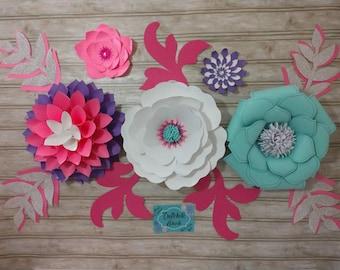 Paper flowers, paper flower decor, large paper flowers