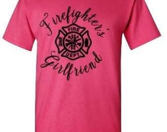 Firefighter's Girlfriend Tee Shirt